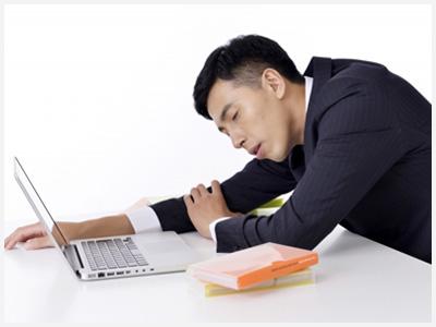 仕事が忙しい男性
